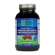 Blue Ice Royal Blend fermentovaný olej z tresčích jater + máslový olej - čokoláda