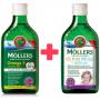 Mollers Omega 3 dospělí 50+ 250 ml + zdarma Mollers Můj první rybí olej 250 ml