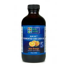 Blue Ice tradiční 100% RAW rybí olej fermentovaný - pomeranč