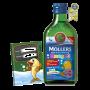 Mollers Omega 3 Ovocná příchuť 250 ml + zdarma Mollers sešit