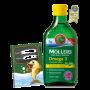 Rybí olej Mollers Omega 3 Citron 250ml + zdarma Mollers sešit
