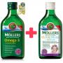 Mollers Omega 3 Natur olej 250ml + zdarma Mollers Můj první rybí olej 250 ml