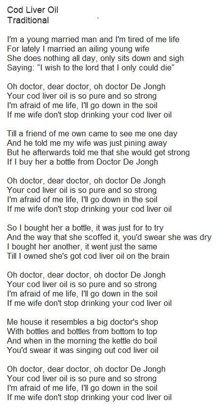 Great Big Sea - Cod Liver Oil Lyrics   MetroLyrics